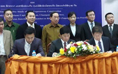 MOU Signing Expressway construction project Vientiane – Pakse Section 3 Savannakhet – Salavanh